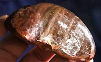 Fluffy and Fibrous Polished Amphibole Dome Quartz – Shamanic Dream