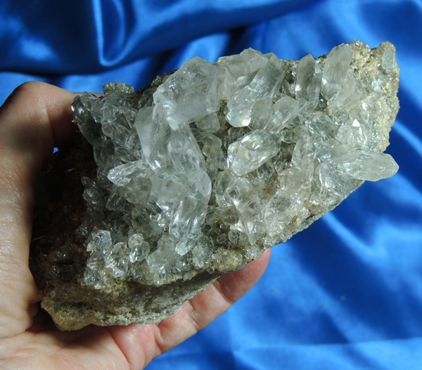 Altar Brilliant Himalayan Quartz Energy Beam Cluster with Chlorite