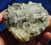 Astounding Brilliant Himalayan Quartz Energy Beam Cluster with Chlorite