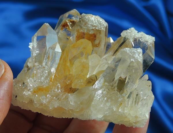 Beautiful Golden Healer Earthquake Quartz Cluster