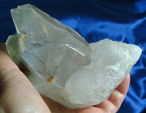 Altar-Sized Gold and Green Psychic Discernment Quartz with Lodelite