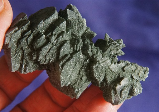 Glorious Adularia Crystal Cluster Cloaked with Green Chlorite
