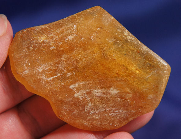 Partially Polished Golden Copal Amber