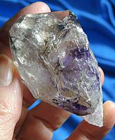 Light Smoky Quartz with Amethyst, Lepidocrosite, Rutile – Crystal Doorway