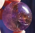 Exceptional, Phantomed Brazil-Twin Bolivian Ametrine Quartz Sphere