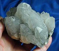 Rare Artichoke Quartz Cluster with Specular Hematite