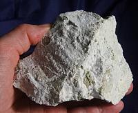 Puffy, Silvery Artinite on Serpentine