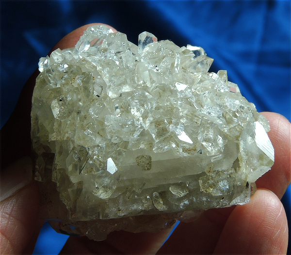 Gleaming Calcite Bejeweled with Glittering Apophyllite