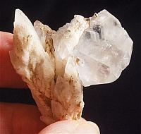 Unusual Clear and Pale Golden Russian Calcite Wand - Change Master