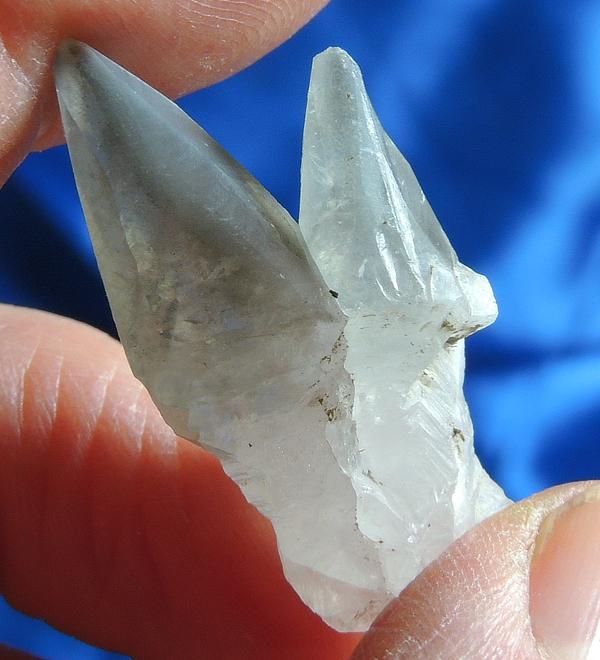 Twinned Gray Pyrite-Phantom Calcite