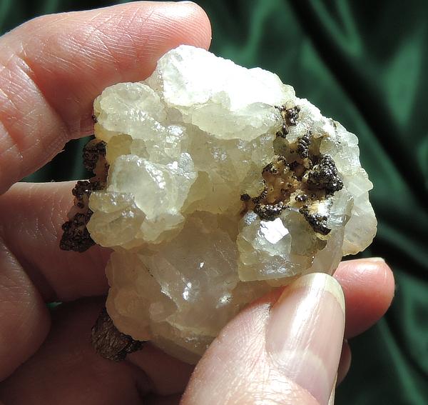 Lovely Golden Calcite with Chalcopyrite Nodules
