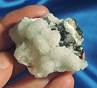 Lovely White Calcite Flowers, Sphalerite and Marcasite – Starbrary Companion