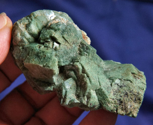 Cluster of Heulandite with Included Green Celadonite