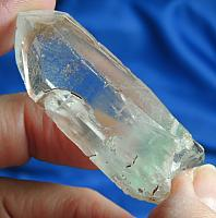 Exciting Lightning Etched Celadonite Phantom Scepter Quartz Crown