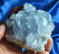 Angelic Ocean Blue Celestite Geode Section
