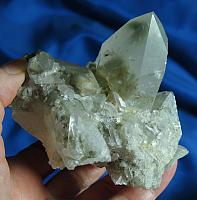 Spectacular DT Chlorite Quartz Cluster with Curved Crystal – Protection Altars