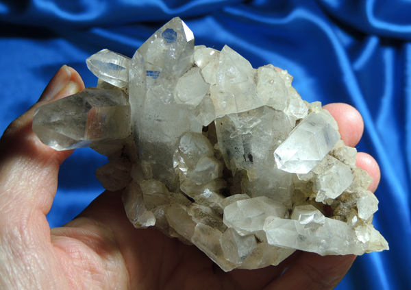 Scrying Messenger Pale Smoky Quartz Cluster with Dark Green Chlorite