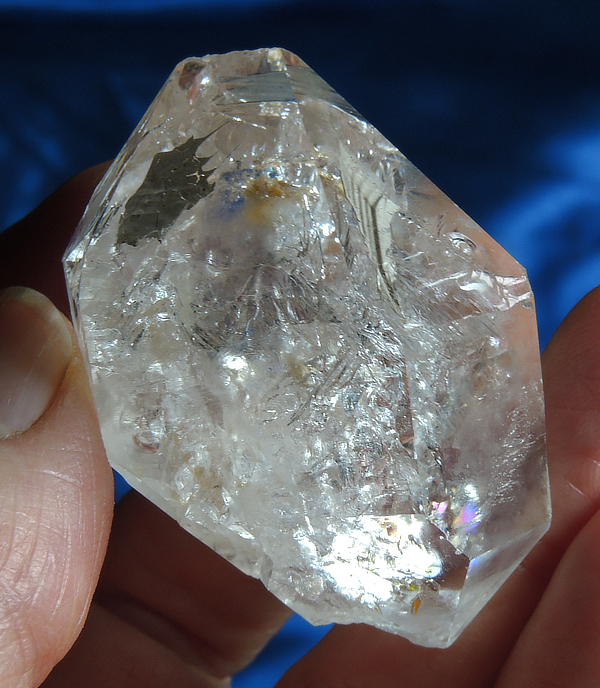 Radiant Glyphed Colombian Fenster Quartz with Inclusions