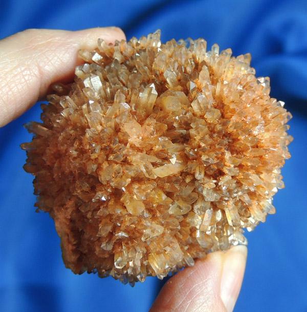Vivid, Lushly-Colored Large Creedite Starburst Spherical Cluster