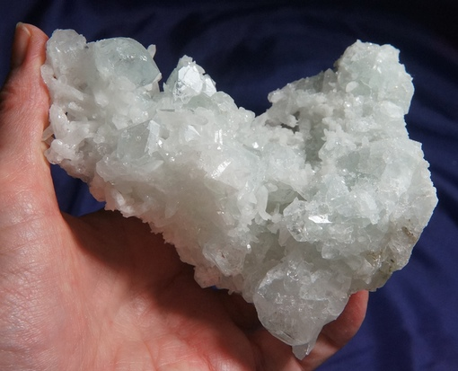 Icy Pale Green Datolite with Glittering Quartz for Altar