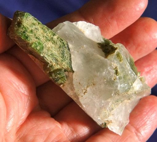 Chrome Green Diopside on Quartz – Open to Healing