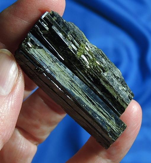 Gleaming Deep Green Blade of Epidote