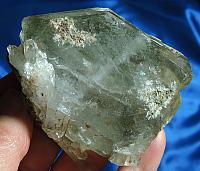 Green Handful Faden Tabby Chlorite Quartz Protector Spirit