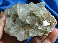 Palm-Sized Fairy Gold Quartz Cluster