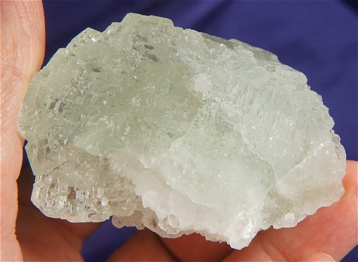 Frosty Light Mint Green Fluorite Cluster with Dravite