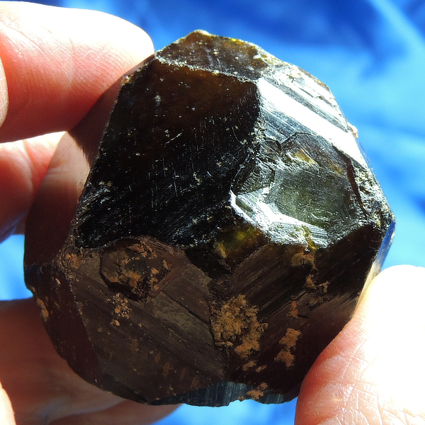 Ultra-Keyed Brown-Skinned Green Garnet with Calcite from Mali