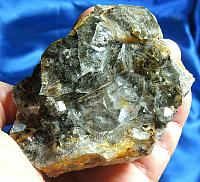Gnome Energy, Natural Deep Green, Slate and Touch of Gold Garden Quartz