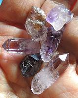 Six Petite Amethyst Points for Jewelry or Grids