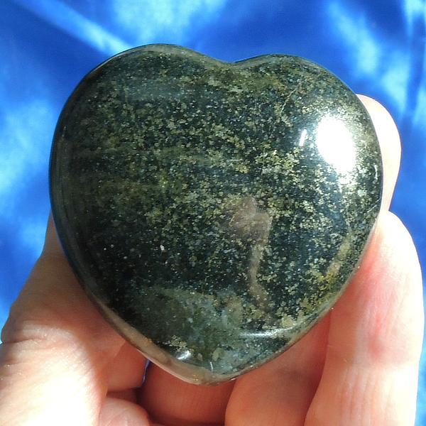 Lovely, Large Lemurian Jade Heart