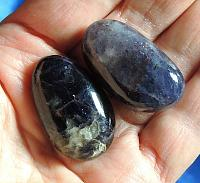 Pair of Mysterious Shaman's Iolite with Flashes of Sunstone