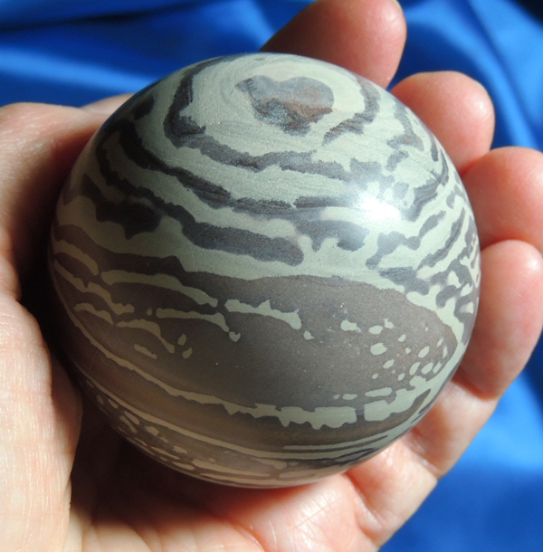 Outstanding Painted Jasper Sphere with Heart