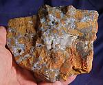 Jasper with Veins of Botryoidal Blue Drusy Chalcedony - Reconnect with the Earth