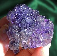Glittering, Mounded Karur Amethyst Flower with Rutile
