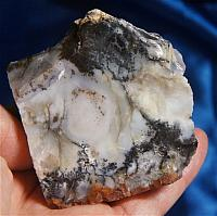 Astonishing Light Merlinite Dendritic Opal Rough from Kosovo - Reconnect with the Earth