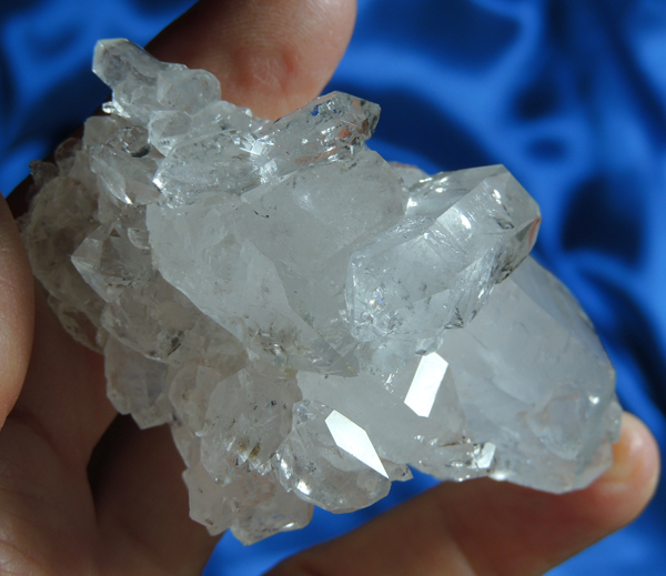 Glossy and Jewel-Like Labyrinth Quartz Cluster