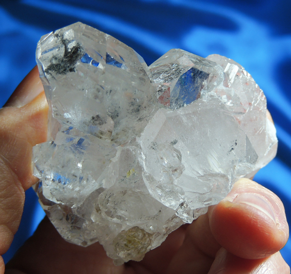 Gleaming and Unusual Labyrinth Quartz Cluster with Touch of Chlorite