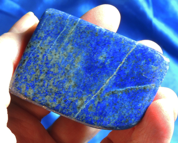 Stunning Polished Electric Blue Lapis with Pyrite