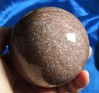 Deeply-Colored and Sparkly Lithium Rich Lepidolite Sphere