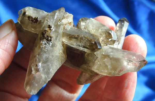 Vibrant Ancient Spirit Malawi Smoky Quartz Cluster with Agerine