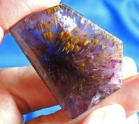 Large Freeform Cacoxenite Loaded Melody Stone Cab