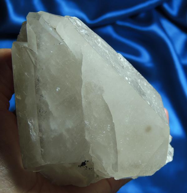 Surprising DT Messina Quartz with Albite and Goethite - Jewel of Lemuria