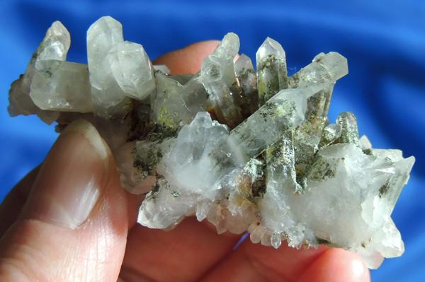 Evocative Messina Quartz Cluster with Chlorite, Piedmontite and Epidote – Jewel of Lemuria