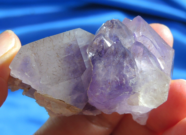 Lovely Opalescent Namibian Amethyst Elestial Quartz, Cacoxinite