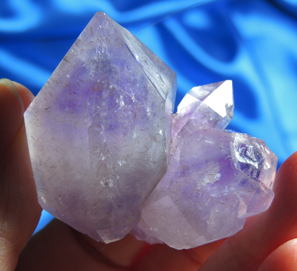 Amazing and Opalescent Namibian Amethyst Elestial Quartz, Cacoxinite