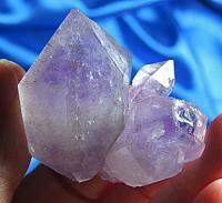 Amazing and Opalescent Namibian Amethyst Elestial Quartz, Cacoxinite