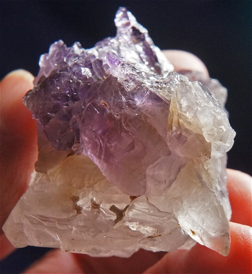 Ancient and Muted Tricolored Smoky Ametrine Quartz